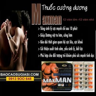 VIÊN UỐNG TĂNG CƯỜNG SINH LỰC MAXMAN 24 VIÊN - 0913 9OO 648